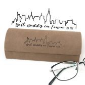 Personalized Glasses Case - Father\'s Day Gift - Father Eyeglasses Case - Gift for Dad - Best Daddy Gift - City Skyline - City Glasses Case
