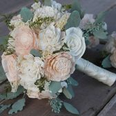 Blush Pink & Ivory Sola Bouquet