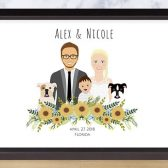 Custom Illustrated Wedding portrait