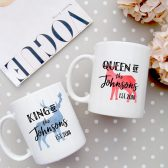 Wedding Gift - Mr. & Mrs. Mugs - King Queen Mugs - Newlywed Mugs - Bridal Shower Gift - Anniversary Gift - Couple Mugs - House Warming Gift