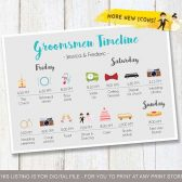 Groomsmen timeline, Wedding timeline ideas