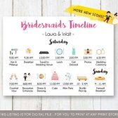 Bridesmaids wedding timeline, Simple Wedding Timeline