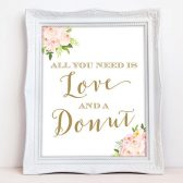 Love and Donut sign