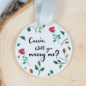 Will you marry me ornament - personalized ornament - personalized marriage proposal - wedding proposal - engagement gift - proposal ornament