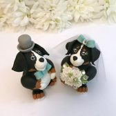 dog cake topper, custom cake topper, pet cake topper, bernese mountain dog cake topper, bride and groom, cute cake topper, custom cake topper, hand made cake topper, personalized cake topper, pet cake topper, dog lover cake topper, animal cake topper, wedding cake topper