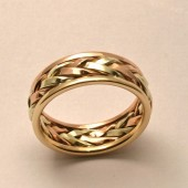 Braided in Gold, Men's Large Wedding Band