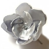 silver star rose blossom wedding flower bobby pin