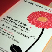Gerbera Daisy Wedding Invitation