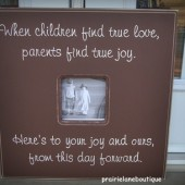 Wedding Quote Gift for Parents 20x20 Frame