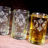 Personalized Groomsmen Gifts, Monogrammed Beer Mugs