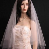 40 inches, 2 tier fingertip veil, circular/drop veil, bridal veil, wedding veil with blusher