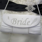 Handpainted Bridal Purse Evening Bag