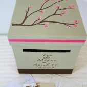 Custom Handpaind Wedding Card Box