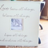 Love bears all things Picxture Frame
