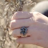 Gray Lily Ring