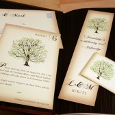fall vintage pocketfold wedding invitation