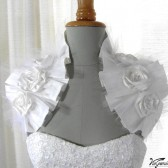 Bridal pleated shoulder wrap / shrug / Victorian inspired