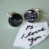 Personalized Cufflinks - PS i love you