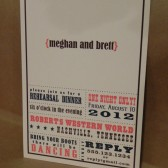 Rehearsal Dinner / Wedding / Save the Date Engagement Party / Birthday Southern / Country Poster Hatch Style Invitation Set