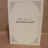 Will You Be My Bridesmaid / Wedding Greeting Darby Cards