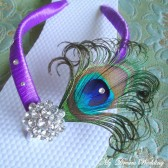 Peacock Flip flops. Swarovski Crystals ,made in your wedding colors -TROPICAL Wedding Collection