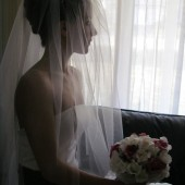 Wedding Veil Blusher & Cathedral Length Ivory Tulle