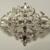 Hair Comb with Pave Encrusted Rhinestones