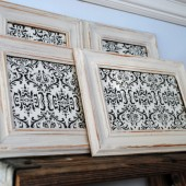 4 Distressed Picture Frames