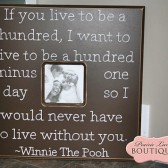 Live to be one hundred Picture Frame