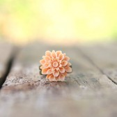 Peach Mum Flower Ring