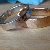 Hammered Rose Gold Wedding Band for Him