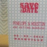 Retro / Modern / Geometric / Circles Save the Date / Party / Birthday Small Aqua and Red Invitation with Envelope