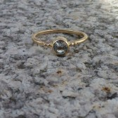 So So Dainty Pale Blue Tourmaline Gold Ring