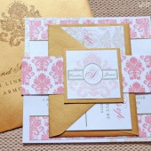 Designer Damask Wedding Invitations