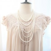 Classic Romantic Pearl Necklace Layered Multi Stranded