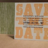 Outdoors / Garden / Field / Farm / Wood Wedding Save the Date / Birthday / Custom Printed Darby Cards Invitation