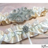 Bridal accessories - bridal garter with rhinestone applique
