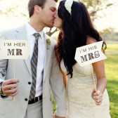 Rustic I'm Her Mr I'm His Mrs Photo Props