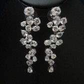 Unique, sparkly chandelier dangley bridal earrings, wedding earrings, cubic zirconia earringss, CZ earrings, bridal jewelry, wedding jewelry