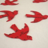 Custom Bird Confetti (Red)