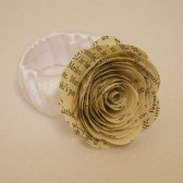 Book Page Rose Corsage