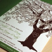 grandfather oak tree wedding invitation