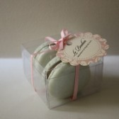 French Macaron Party Favor in Clear Box