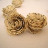 Book Page Mini Roses