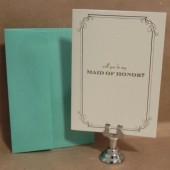 Will You Be My Maid of Honor / Matron of Honor Wedding Greeting Card