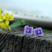 Light Purple Flower Earrings