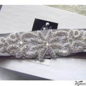 Silver tone wedding sash