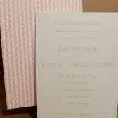 Organic Circle Pattern Custom Printed Wedding Invitation Set / Simple and Clean / Pretty / Rehearsal Dinner / Vintage Style Darby Cards