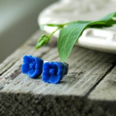 Royal Blue Flower Earrings