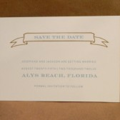 Small Banner Save the Date/ Sophisticated and Simple / Beach / Wedding / Small Invitation / Party / Dinner / Cocktail Supper